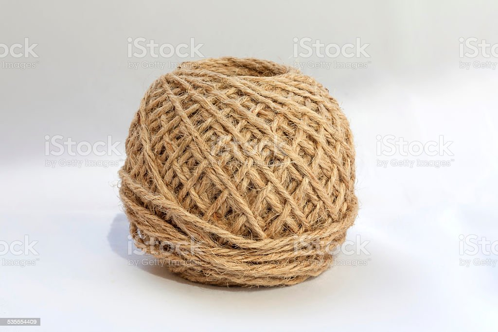 Natural rope with white background royalty-free stock photo