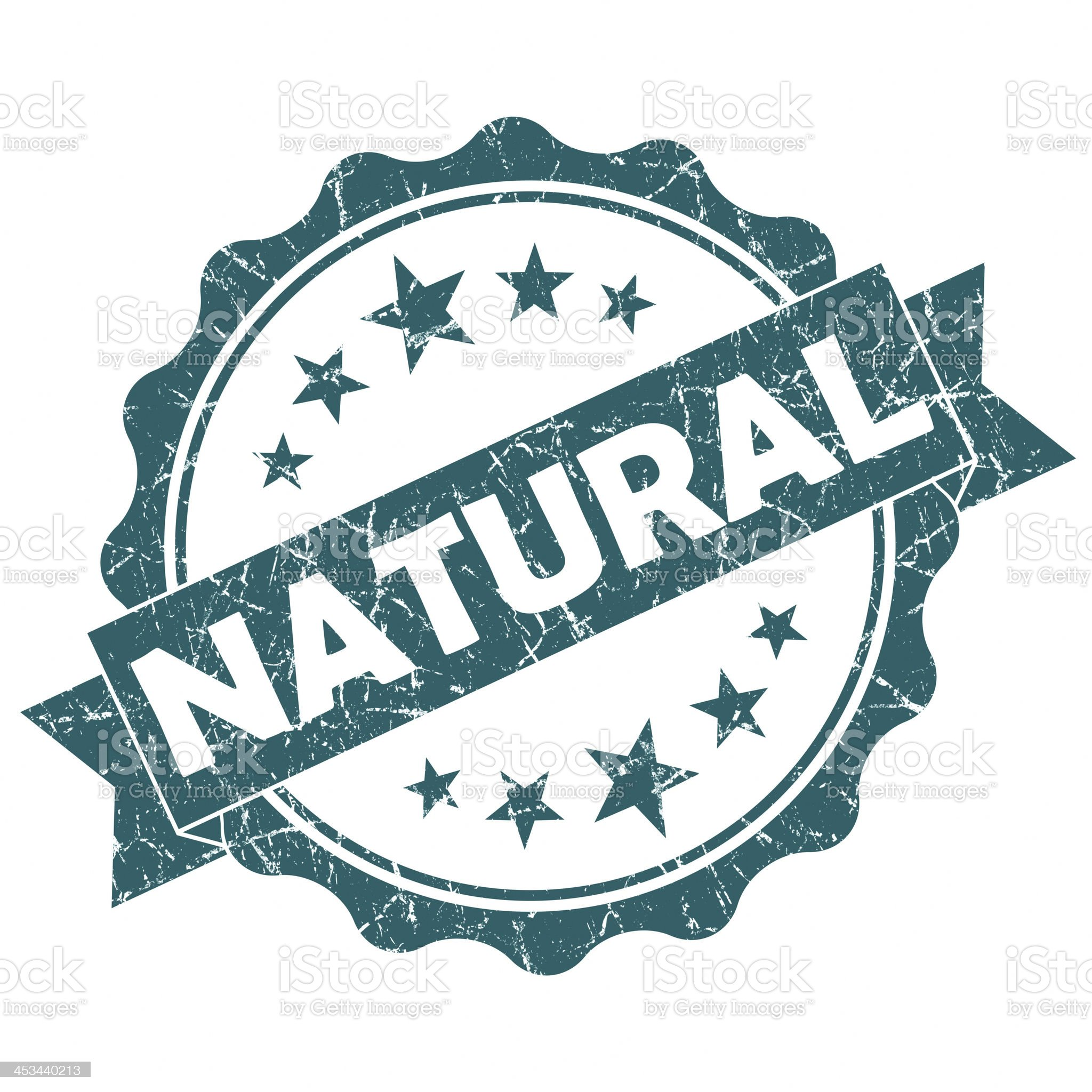 natural round grunge seal royalty-free stock vector art