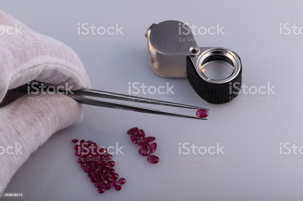 Natural ruby stock photo