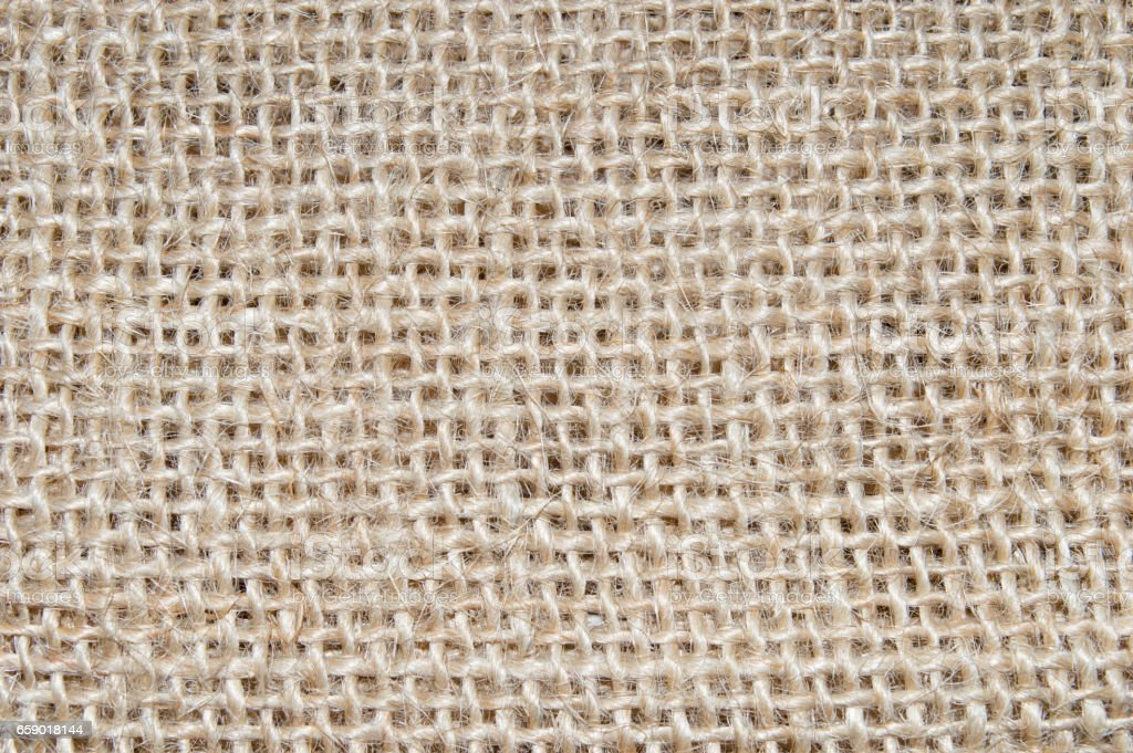 Natural sackcloth texture or background. stock photo