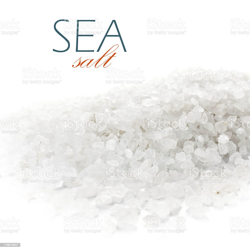Natural salt of Dead Sea  on white background closeup stock photo