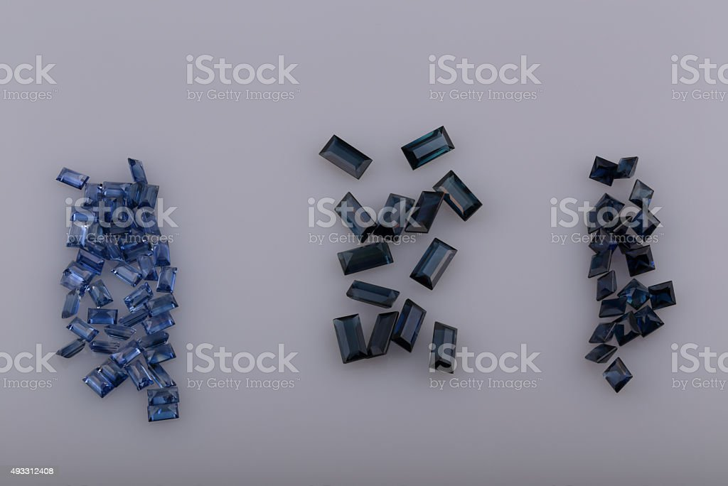 Natural sapphire stock photo