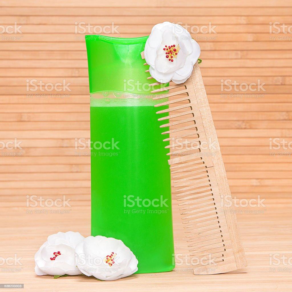 Natural shampoo stock photo