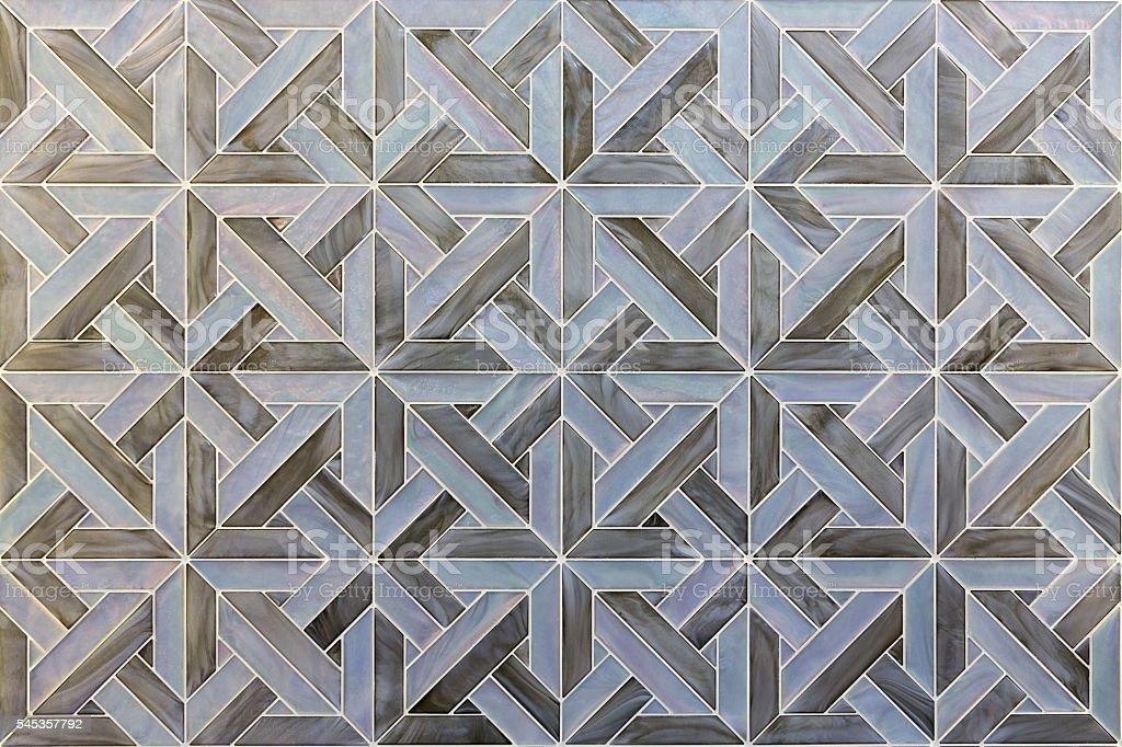 Natural shell wall tiles stock photo
