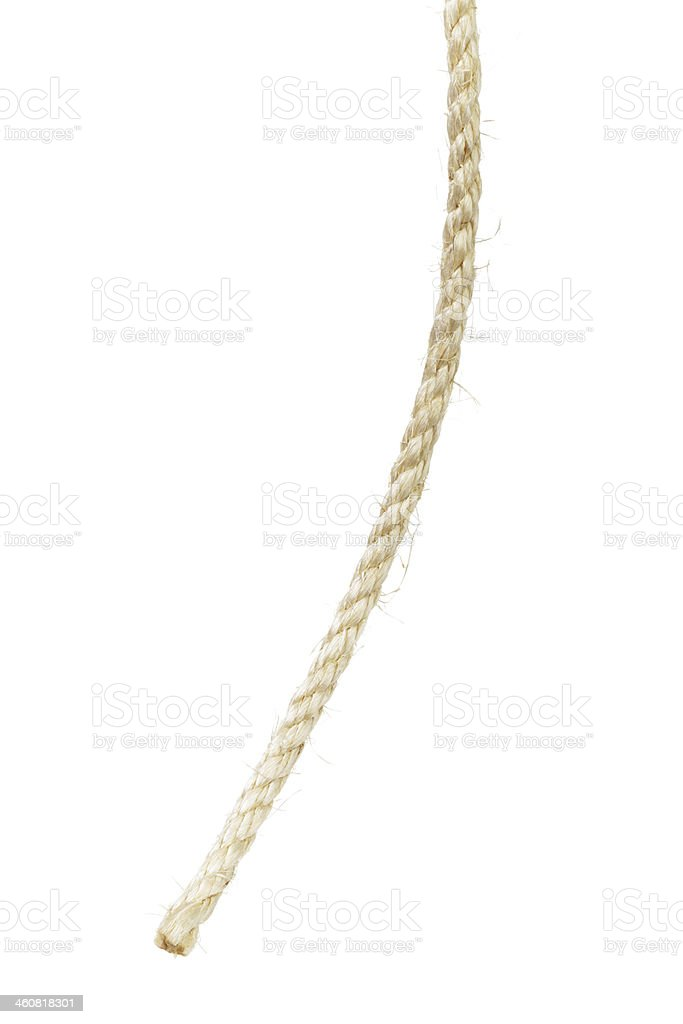 natural sisal rope end stock photo