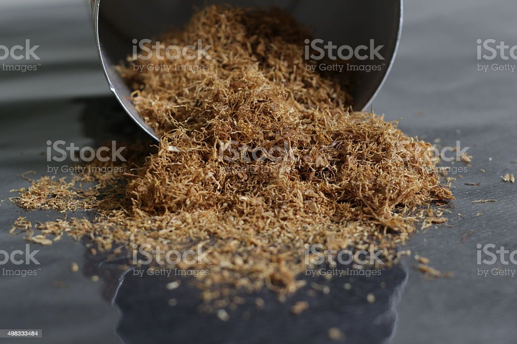 Natural sliced Tobacco stock photo