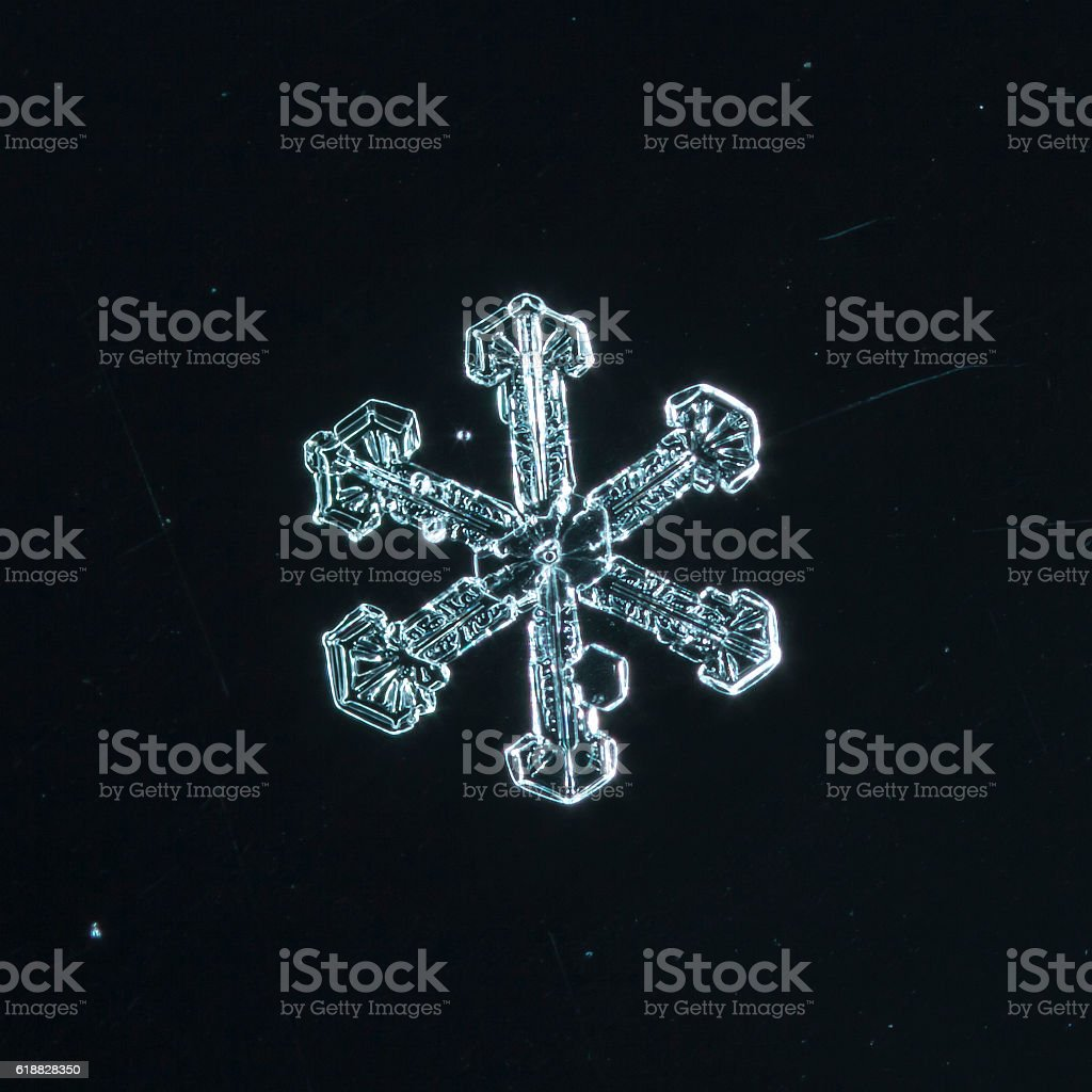 natural snowflakes stock photo