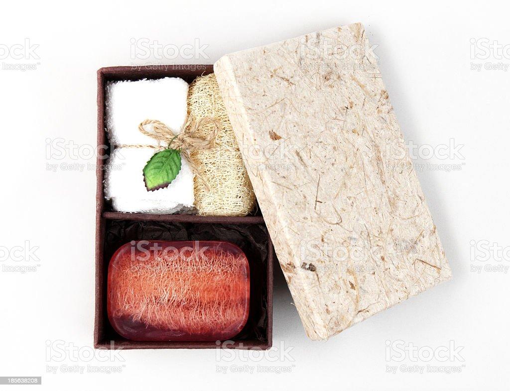 Natural Soap Box Set royalty-free stock photo