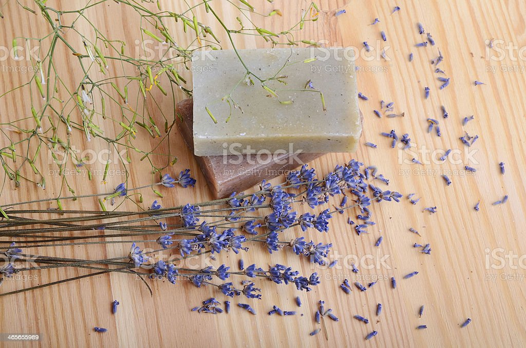 Natural soaps for bodycare royalty-free stock photo