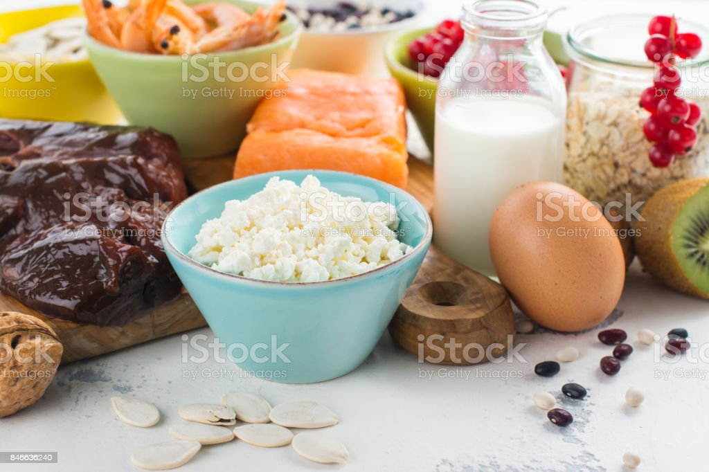 Natural sources of phosphorus stock photo