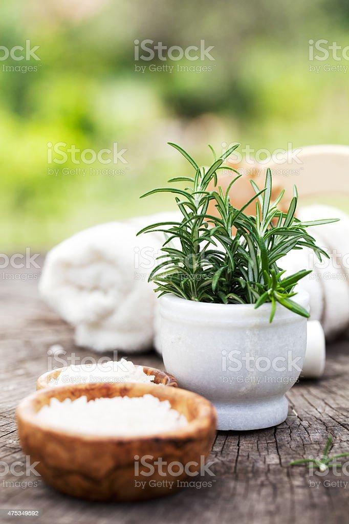 Natural spa stock photo