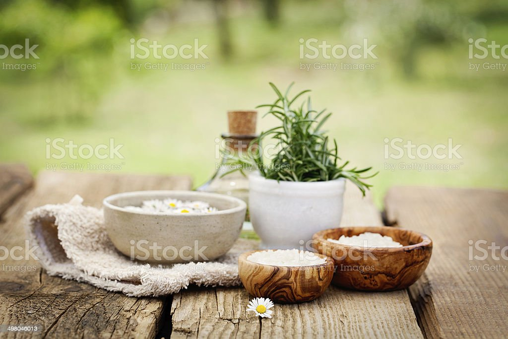 Natural spa stock photo