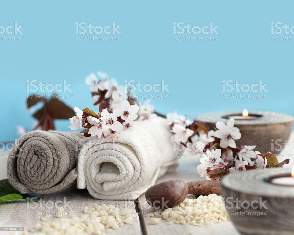 Natural spa setting royalty-free stock photo