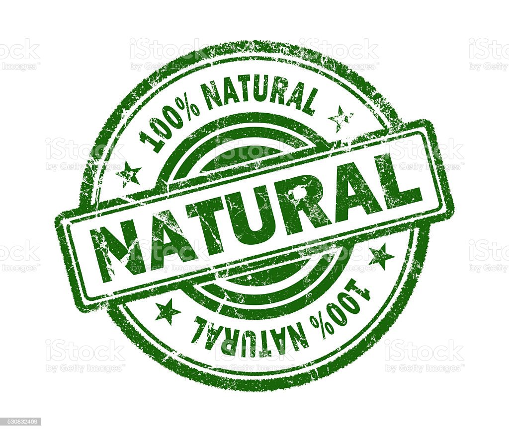 natural stamp on white background stock photo