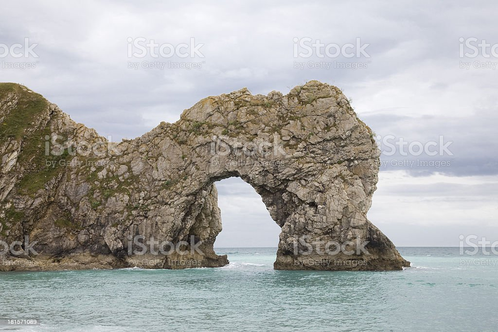 Natural Stone Arch Eroded by the Sea royalty-free stock photo