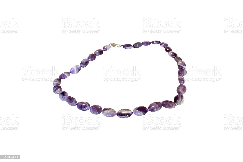 natural stone beads stock photo