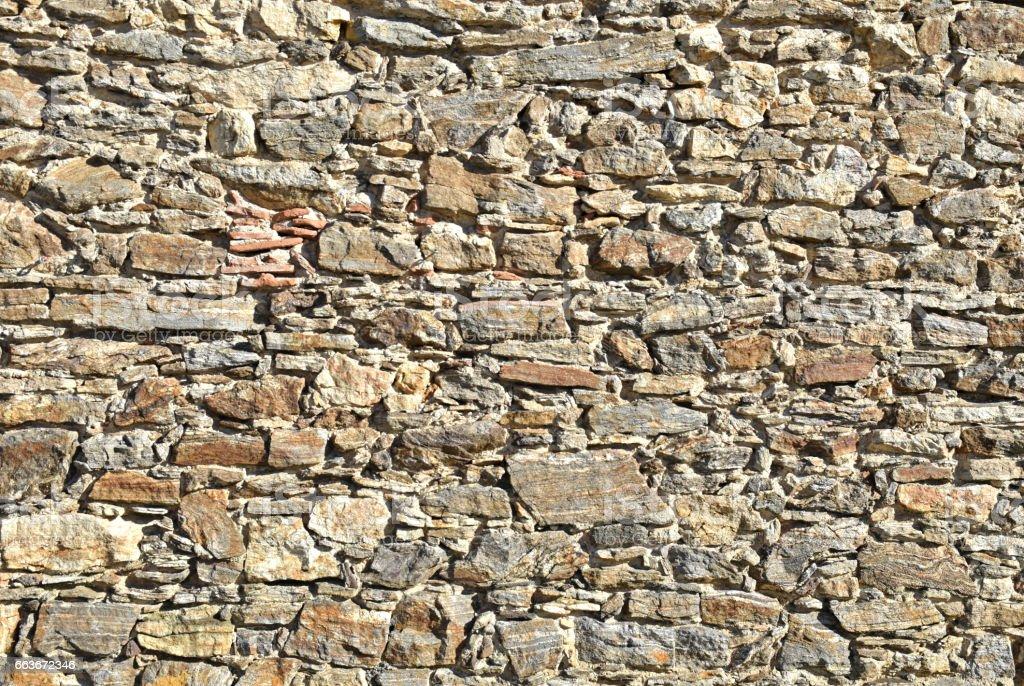 Natural stone masonry stock photo