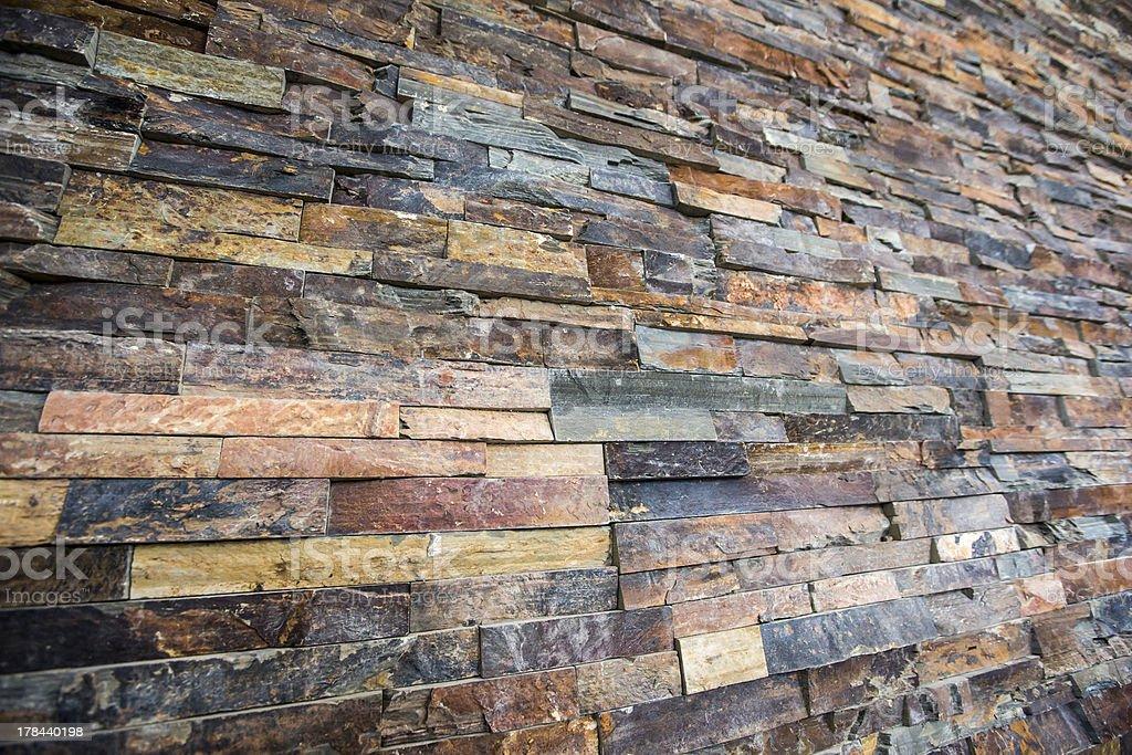 Natural stone strips stock photo
