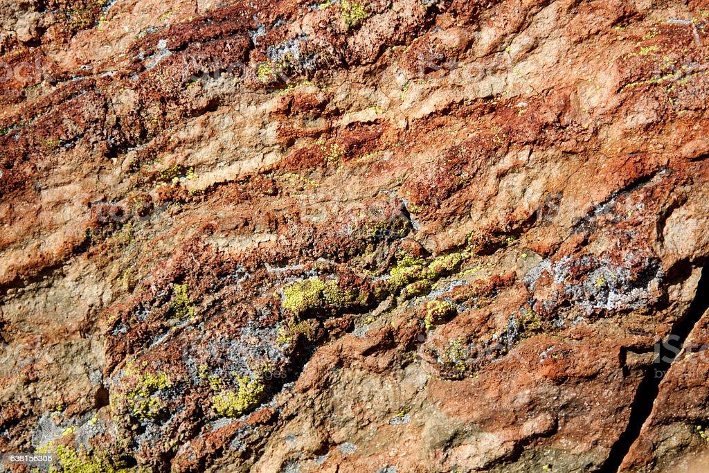 Natural Stone Texture and Lichen stock photo