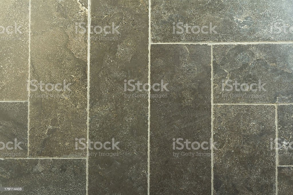 Natural stone tiled floor royalty-free stock photo