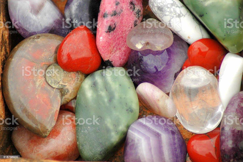 Natural stones set stock photo