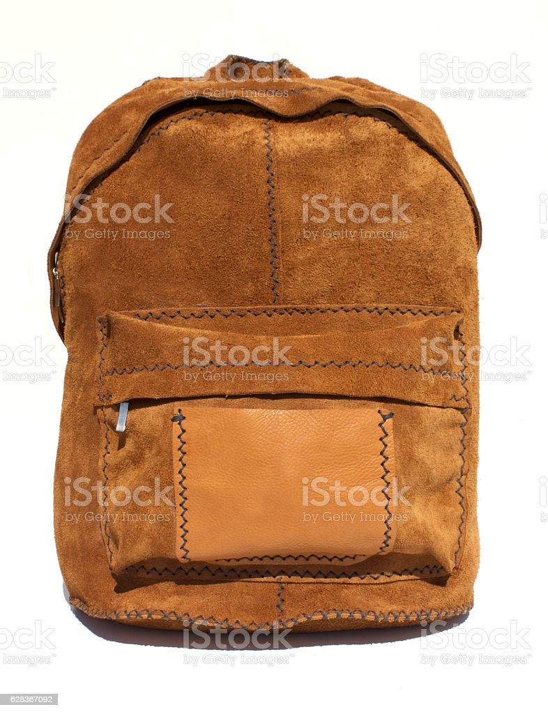 Natural Suede Bag stock photo