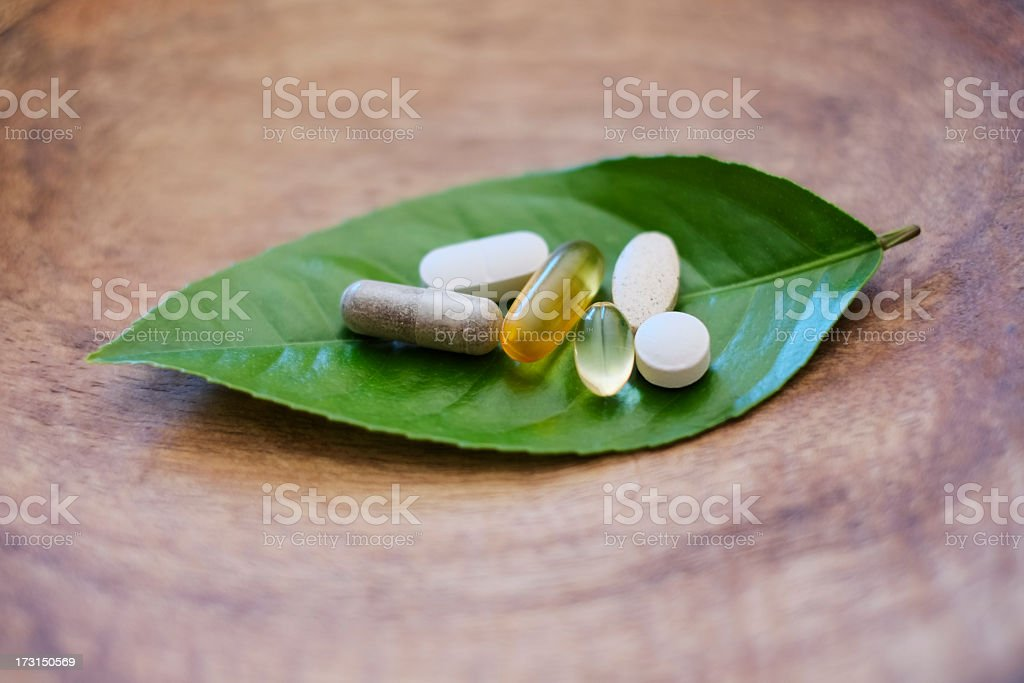 Natural supplements stock photo