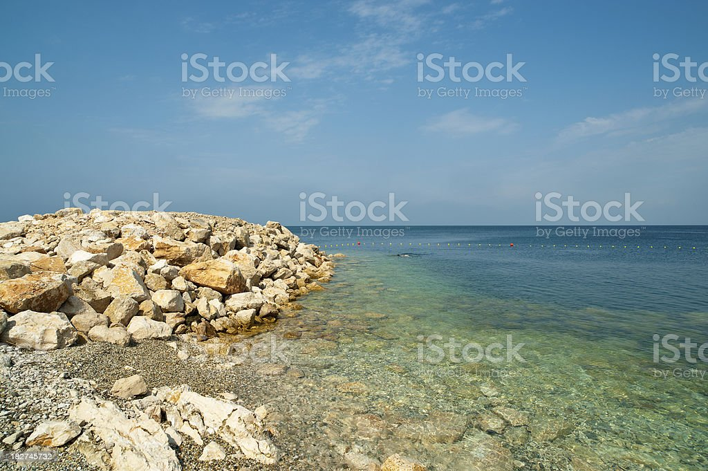 Natural Swimmng Basin stock photo