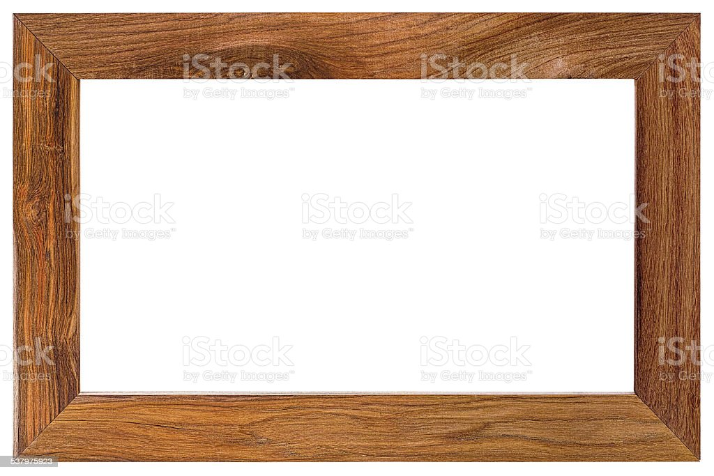 Natural teak wood frame. stock photo