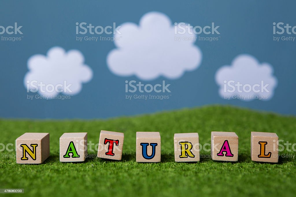 Natural text stock photo