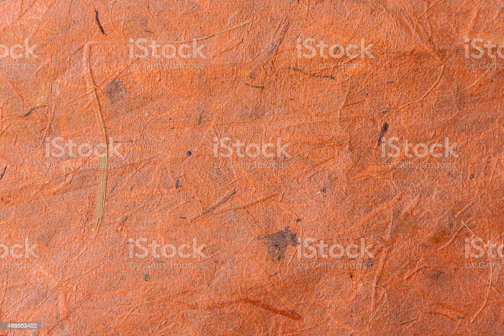 Natural texture on paper orange colour royalty-free stock photo