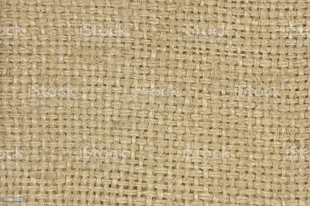 Natural textured burlap sackcloth hessian texture coffee sack, canvas background royalty-free stock photo