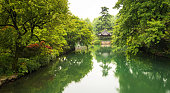 Natural view of chinese style garden