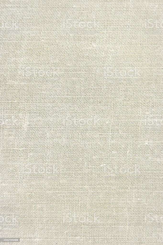 Natural vintage linen burlap texture background, tan, beige, vertical fabric stock photo