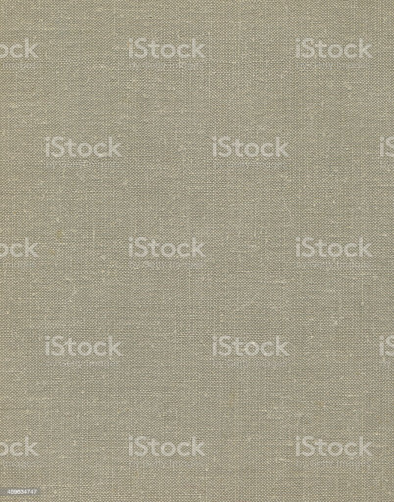 Natural vintage linen burlap textured fabric texture, old rustic background stock photo