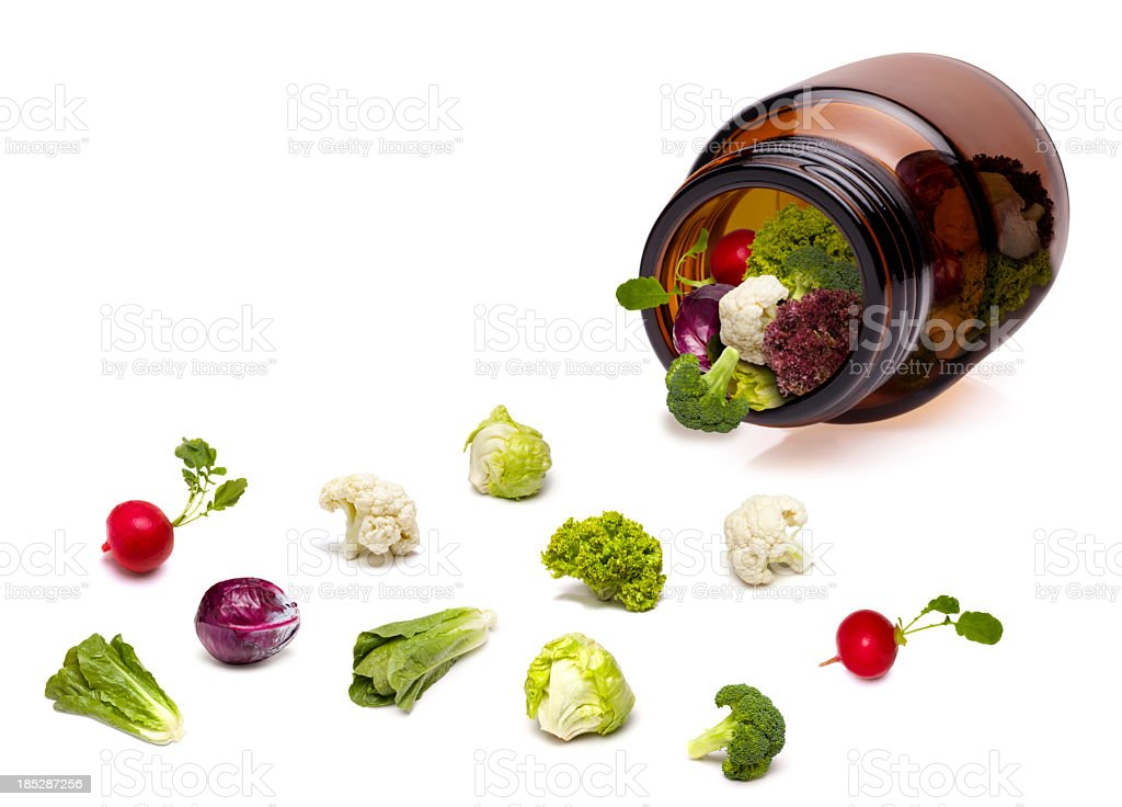 Natural Vitamin Pills royalty-free stock photo