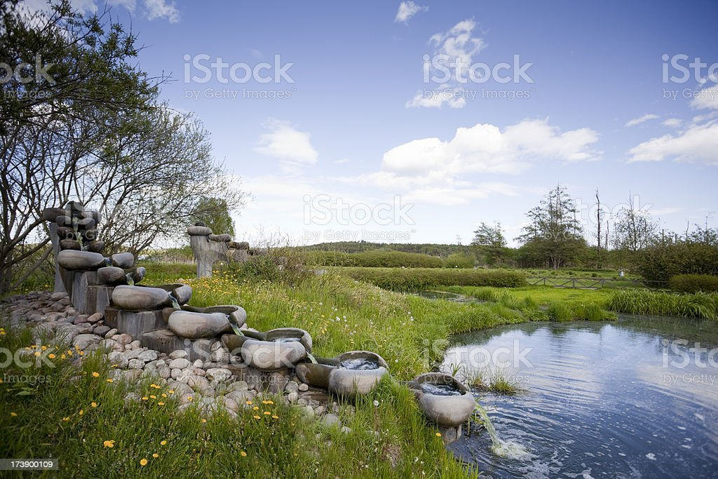 Natural water cleaning royalty-free stock photo