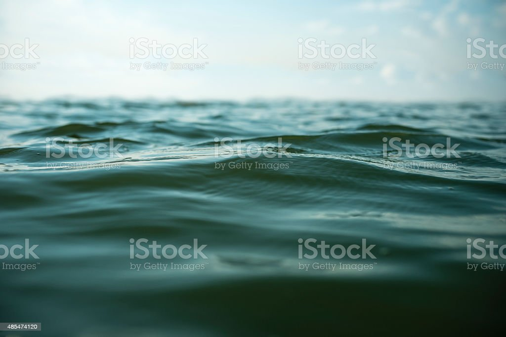 Natural water surface close-up stock photo