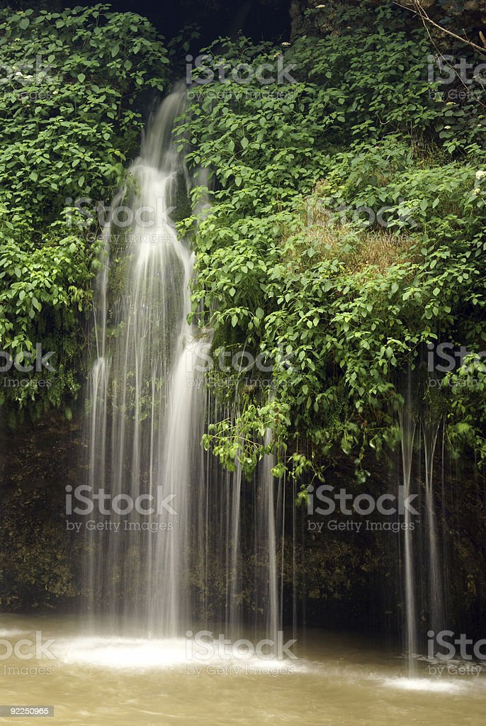 Natural waterfalls in Oklahoma royalty-free stock photo