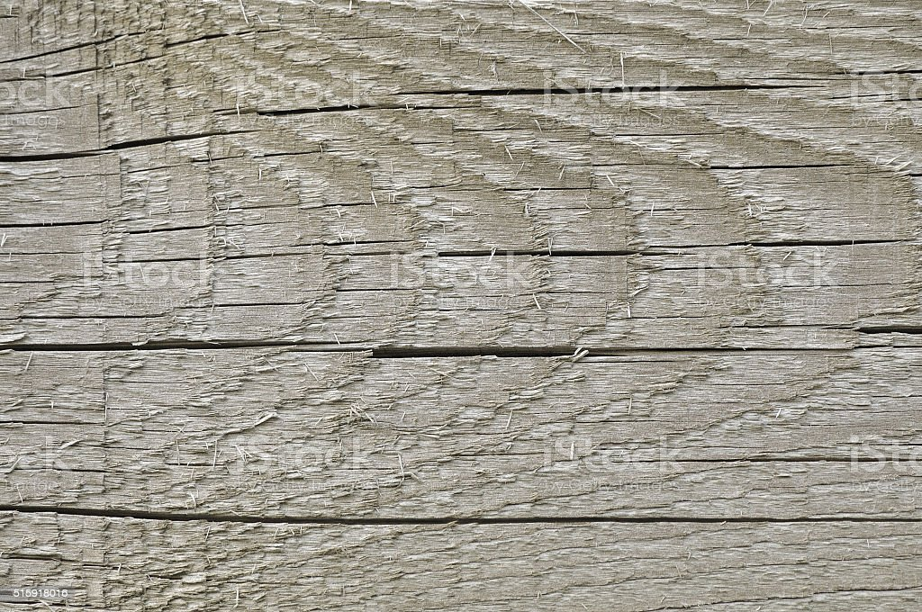 Natural Weathered Grey Tan Taupe Sepia Wooden Board, Cracked Background stock photo