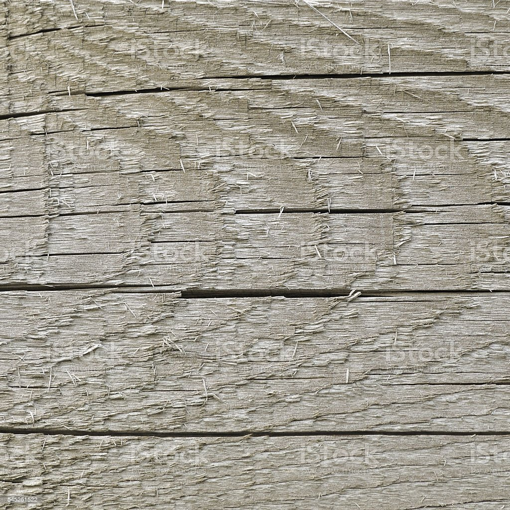 Natural Weathered Grey Tan Taupe Sepia Wooden Board, Cracked Wood stock photo