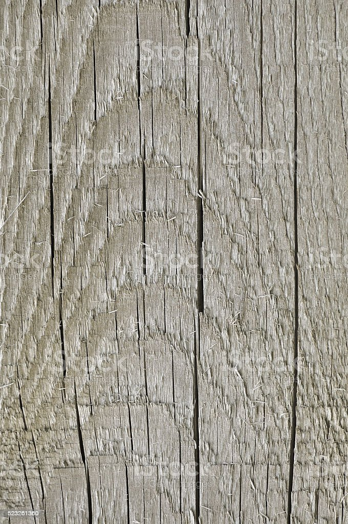 Natural Weathered Grey Tan Taupe Wooden Board, Cracked Vertical Background stock photo