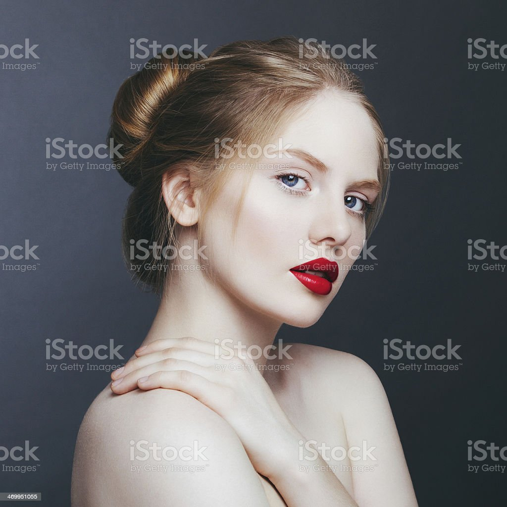 Natural woman stock photo