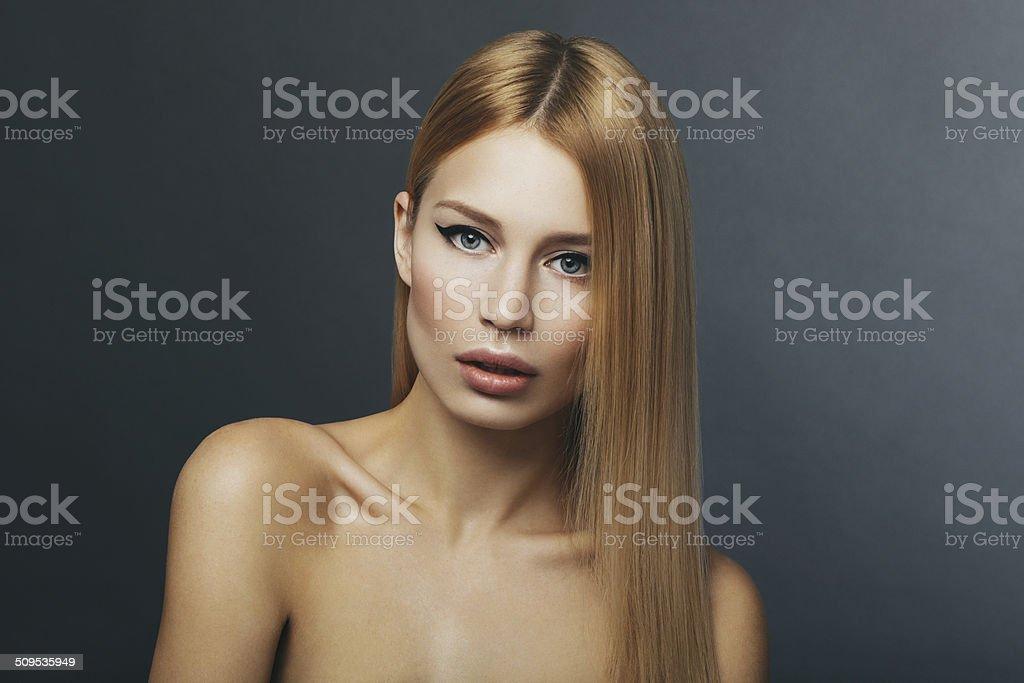 Natural woman stock photo