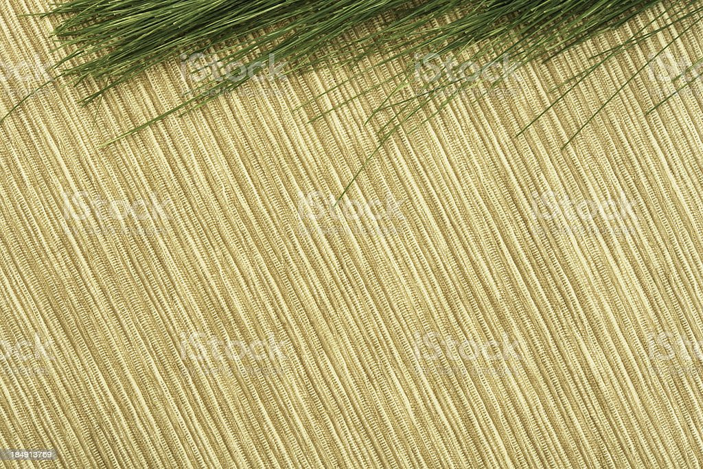 Natural wood texture and grass royalty-free stock photo
