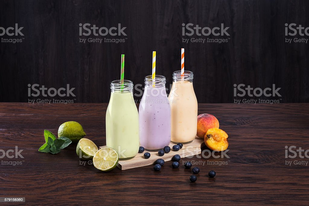 Natural yoghurt stock photo