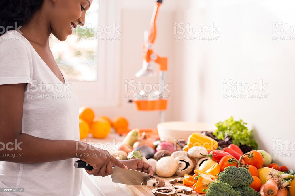 Naturalistic cooking. stock photo