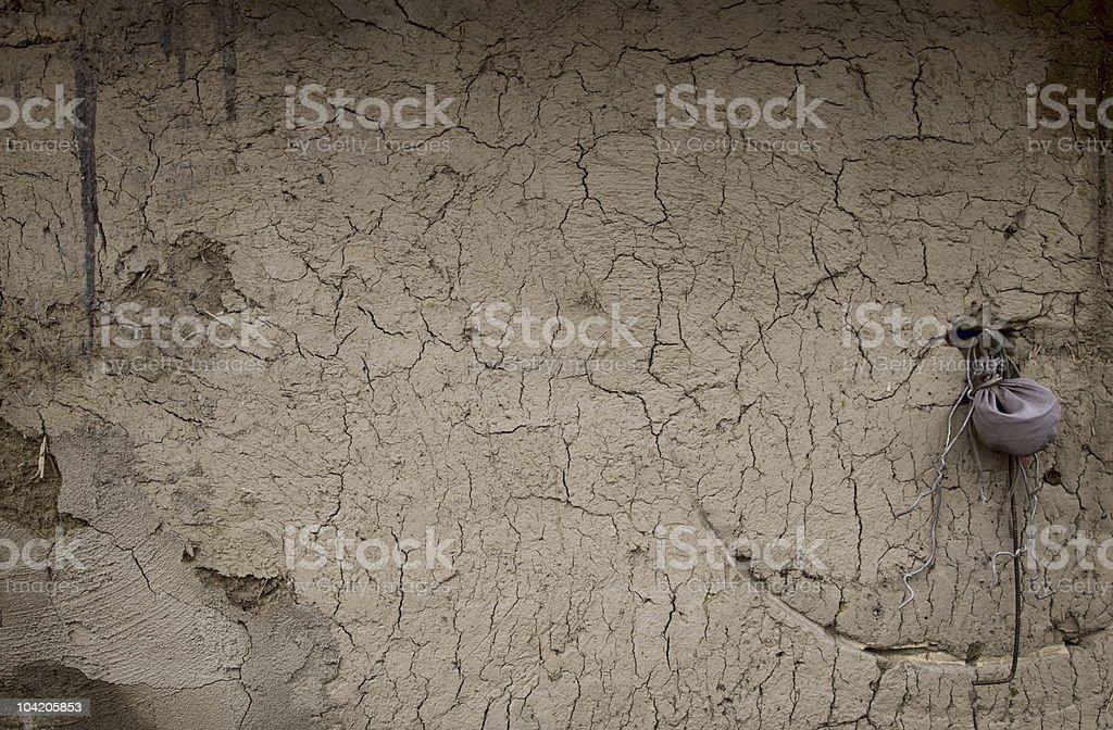 naturally aged clay wall stock photo