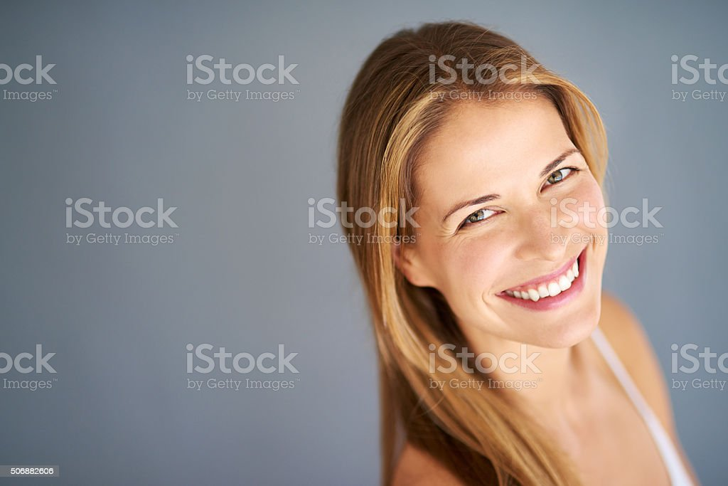 Naturally beautiful and confident stock photo