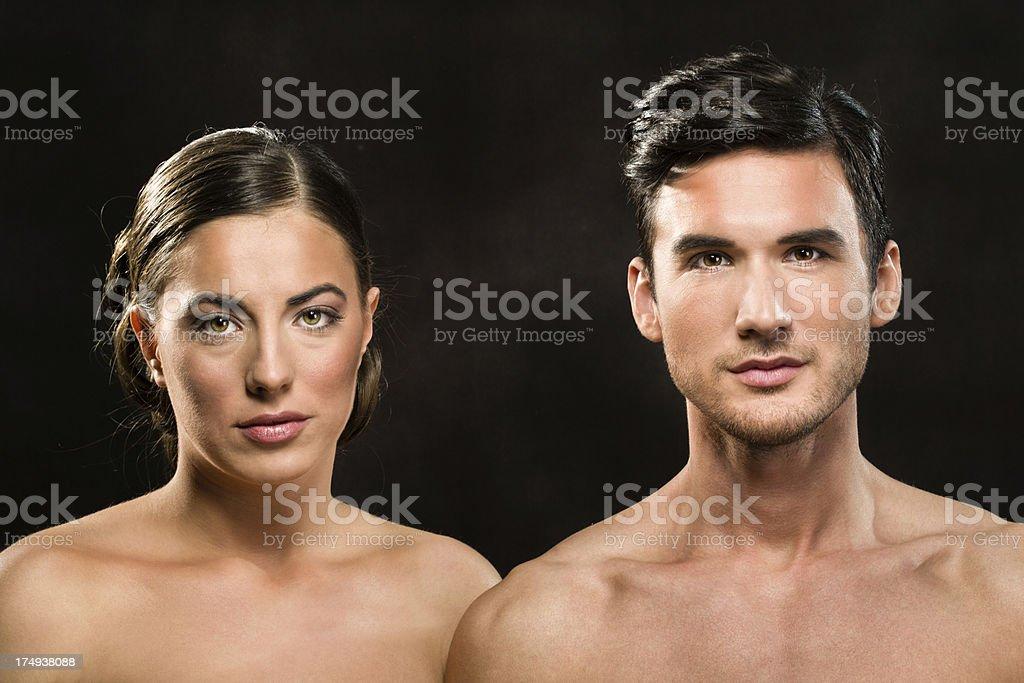 Naturally beautiful couple royalty-free stock photo